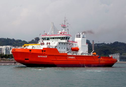 The VARANDEY icebreaker for LUKOIL